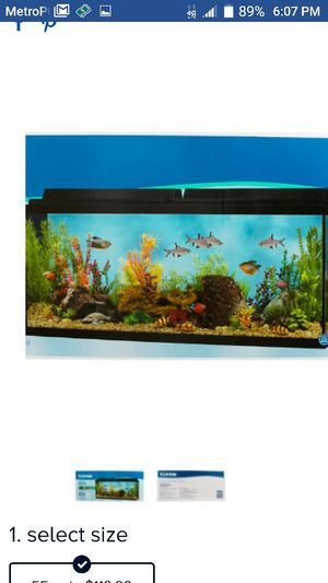 55 gallons fish tank .. read for all included...Great starter tank for Sale in Orlando, FL