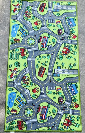 Children's Play Mat - Boy Girl Kid Toy Cars Road Town for Sale in Round Rock, TX