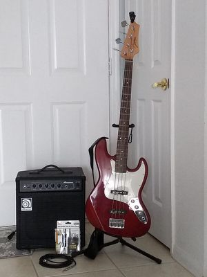 Bass Guitar an Bass Amplifier plus accessories for Sale in Haines City, FL