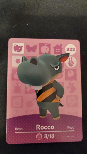 Animal crossing amiibo card - Rocco - series 4 for Sale in San Bernardino, CA