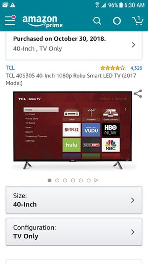 "TCL Roku Smart TV 40"" for Sale in Indianapolis, IN"