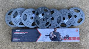Curl Bar Weight Plate Combo 70lbs $199 for Sale in Raleigh, NC