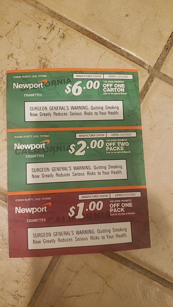 Free Newport cigarette coupons