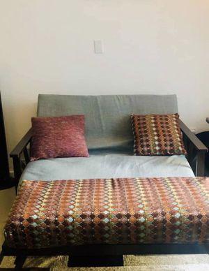Futon w ottoman and pillows ! for Sale in Miami, FL