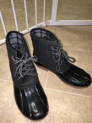Women's black rain boots for Sale in Richmond, VA