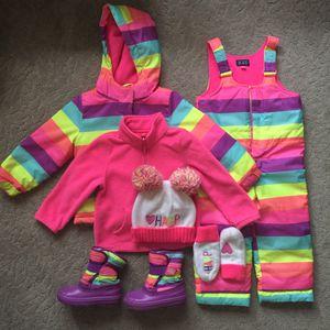 Girls jacket, pants, boots, sweatshirt, hat, gloves - $35 for Sale in Ocala, FL