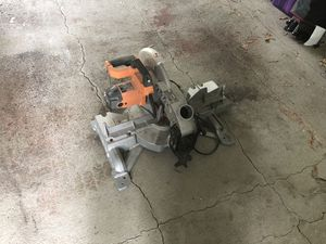 """RIDGID 15 Amp 10"""" Dual Miter Saw for Sale in Sterling, VA"""