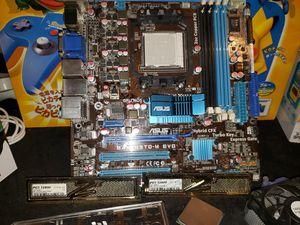 ASUS M4A785TD-M EVO AM3 Motherboard w I/O CPU Radeon Card & 4GB OCZ Gold RAM for Sale in Pumpkin Center, CA