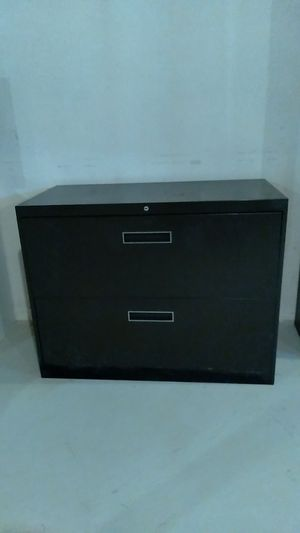 2 drawer, double-wide file cabinet for Sale in Sterling Heights, MI
