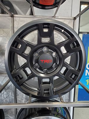 17x8 Tacoma TRD style black wheels fits 4runner FJ Lexus gx rims tires for Sale in Tempe, AZ