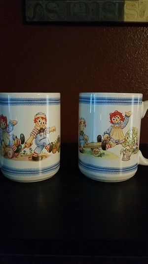 Raggedy Ann and Andy mugs for Sale in Taylor, WI