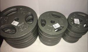 Weights 25lb,10lb and 5lb Standard 1 inch plates ($2 per pound) for Sale in West Covina, CA