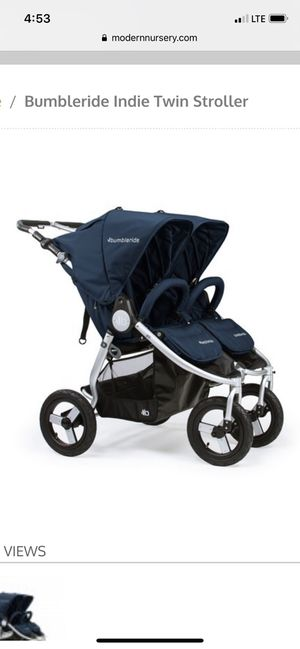 Double Bumbleride used stroller for Sale in Woodway, WA