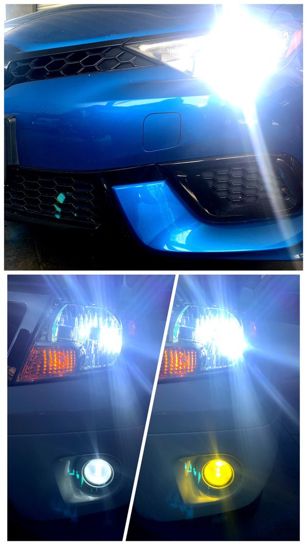 Complete set of led headlights or fog lights for ANY car $25 & FREE license plate led