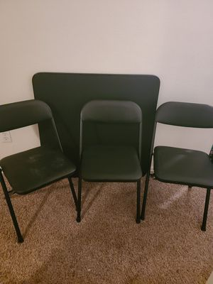 Folding table & chairs for Sale in Sheridan, CO