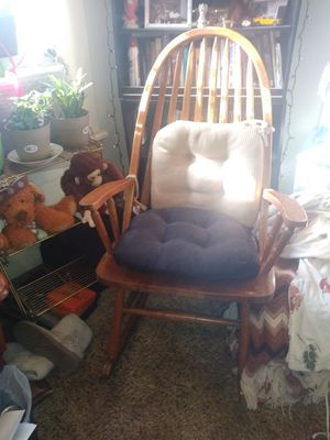 Wooden rocking chair, all tight. for Sale in Delta, CO