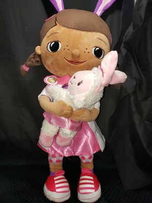 "Jumbo Doc Mcstuffin doll with her bunny 21"" for Sale in Zanesville, OH"