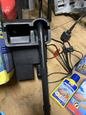 Aquarium filter, ick tablets, ph balancer, air pump, hose and stone for Sale in Smithton, IL