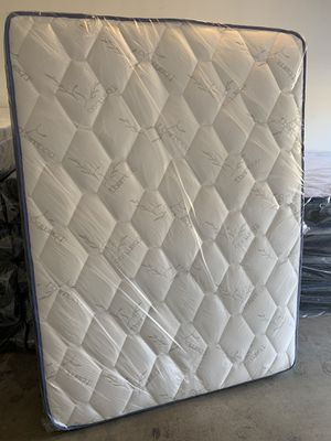 Brand new queen size pillow top mattress with box spring included same day delivery available all sizes available for Sale in Apache Junction, AZ