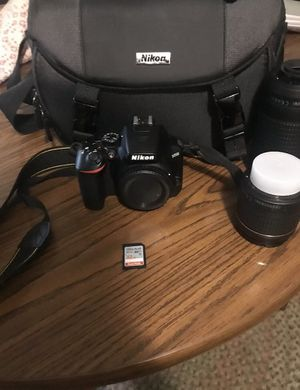 Nikon D3500 DSLR Camera with 18-55mm and 70-300mm Lenses + Official Nikon Bag for Sale in New London, CT