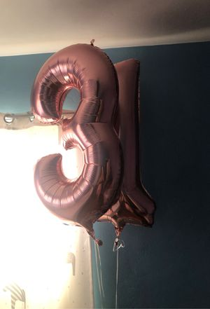 3 - 1 rose gold balloons for Sale in Anaheim, CA