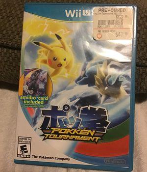 Pokken tournament for Nintendo Wii U for Sale in Pasco, WA