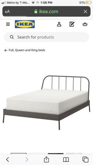 IKEA metal bed frame for Sale in Calimesa, CA