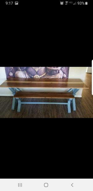 Cedar Trestle Table with matching Bench. for Sale in Spring, TX