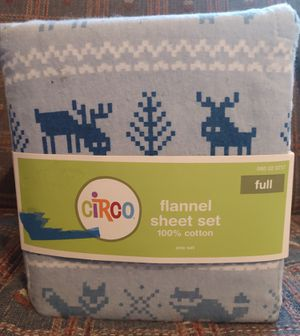Full size flannel sheets set for Sale in Wichita, KS