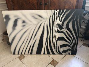 Beautiful zebra picture for Sale in Boca Raton, FL