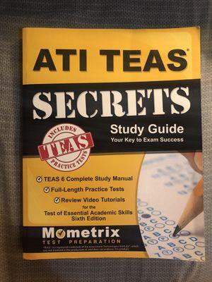 ATI Teas Secrets Study Guide Book for Sale in Covina, CA