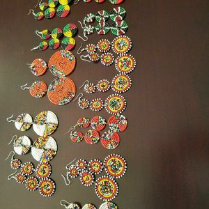 Multi color african beaded earrings for Sale in Bowie, MD