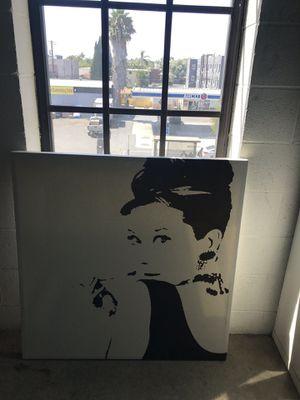Audrey Hepburn Canvas for Sale in Los Angeles, CA