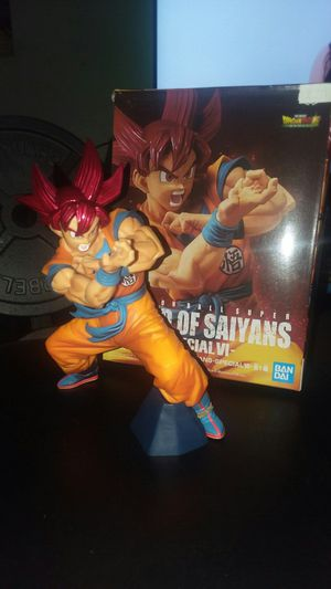 Dragon Ball Z Super Blood of Saiyans special 4 Bandai Spirits God Goku Red for Sale in Melrose Park, IL