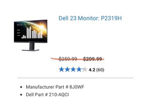 DELL MONITOR for Sale in Roseville, CA