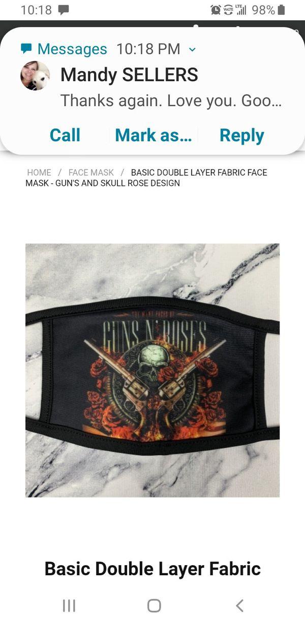 Mask guns and roses