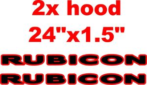 "Jeep Wrangler Rubicon decal hood pair 24""x1.5"" for Sale in Houston, TX"