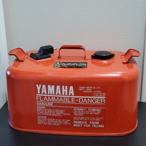 Vintage Metal Yamaha 6.3 Gallon Marine Outboard Boat Motor Gas Can for Sale in Nampa, ID