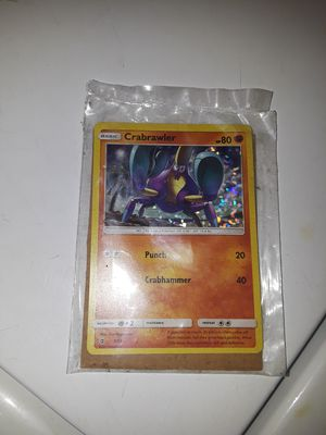 Pokemon card 'crabrawler' for Sale in Hyattsville, MD