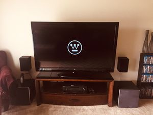 Westinghouse 60 inch lcd+ tv stand for Sale in Grand Rapids, MI