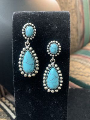 Costume turquoise earrings for Sale in Menifee, CA