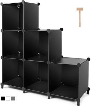Black 6-Cube Closet Organizer Storage Shelves Cubes Organizer for Sale in Los Angeles, CA