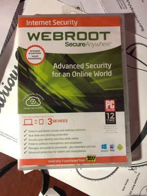 BRAND NEW WebRoot Internet Security for Sale in Raleigh, NC