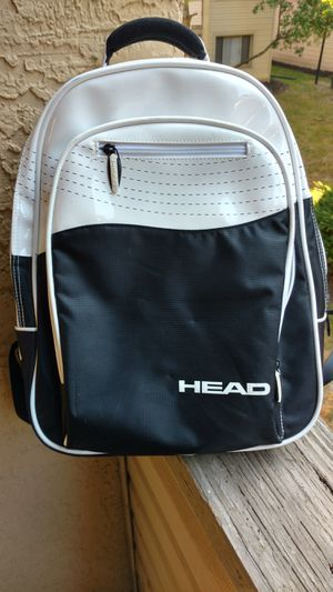 Head brand black and white backpack book bag for laptops and tablets for Sale in Columbus, OH