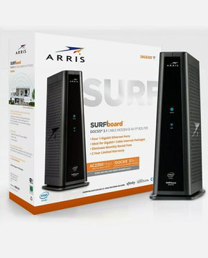 NEW FACTORY SEALED Arris SURFboard SBG8300 DOCSIS 3.1 AC2350 Cable Modem & Dual-Band Wi-Fi Router for Sale in Hollywood, FL
