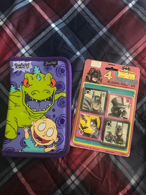 Vintage Rugrats Pencil Case Batman Puzzle Toy for Sale in Phoenix, AZ