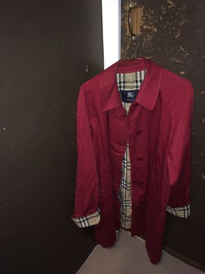Burberry Brick Red Trench Jacket for Sale in New York, NY