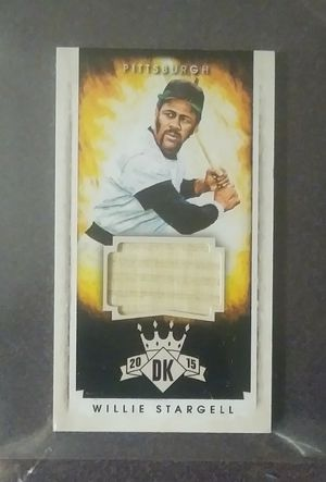 2015 Panini Diamond Kings Willie Stargell Pittsburgh Pirates #145 HOF Hall Of Fame Game Used Bat Relic Baseball Card 13/99 Collectible Sports MLB for Sale in Salem, OH