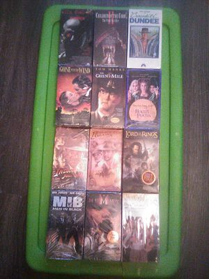 HUGE FACTORY SEALED NEW NIP 12 FILM VHS COLLECTION for Sale in Decatur, IN