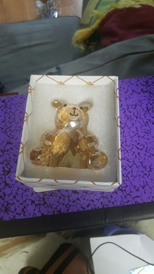 crystal teddy bear the orginal price $25 we selling $15 for Sale in Columbus, OH